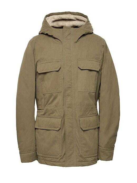 Water Resistant Sherpa Field Jacket by Banana Repbulic