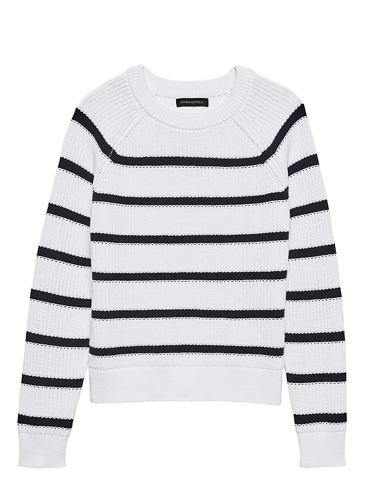 Chunky Ribbed Stripe Sweater by Banana Repbulic