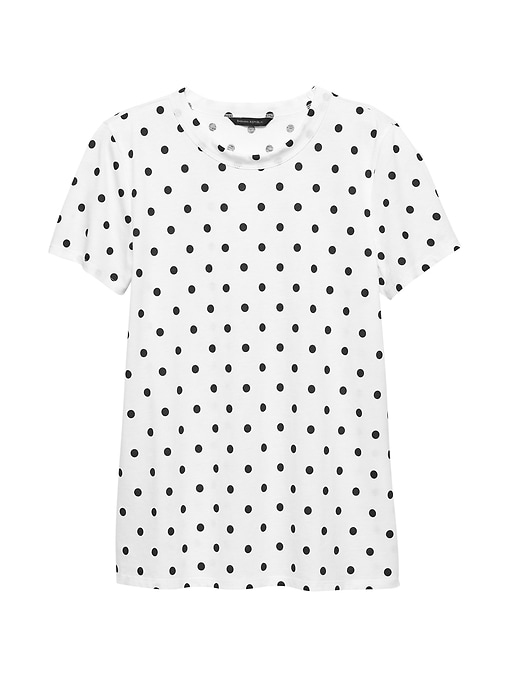 Supima® Cotton Polka Dot T Shirt by Banana Repbulic