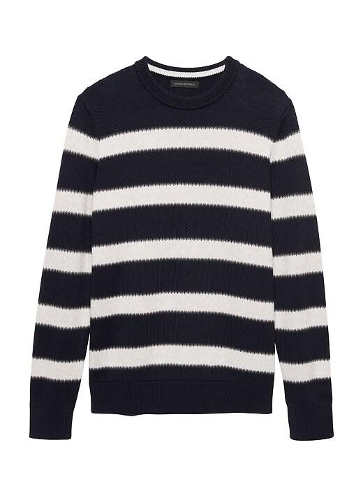 Supima® Cotton Stripe Sweater by Banana Repbulic