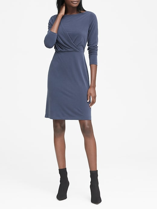 Sandwash Modal Twist Front T Shirt Dress by Banana Repbulic