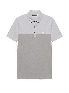 Slim Color-Blocked Pique Polo