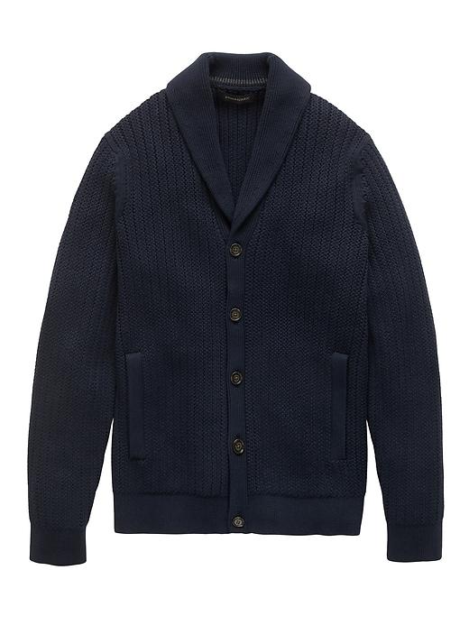 Supima® Cotton Shawl Collar Cardigan Sweater by Banana Repbulic