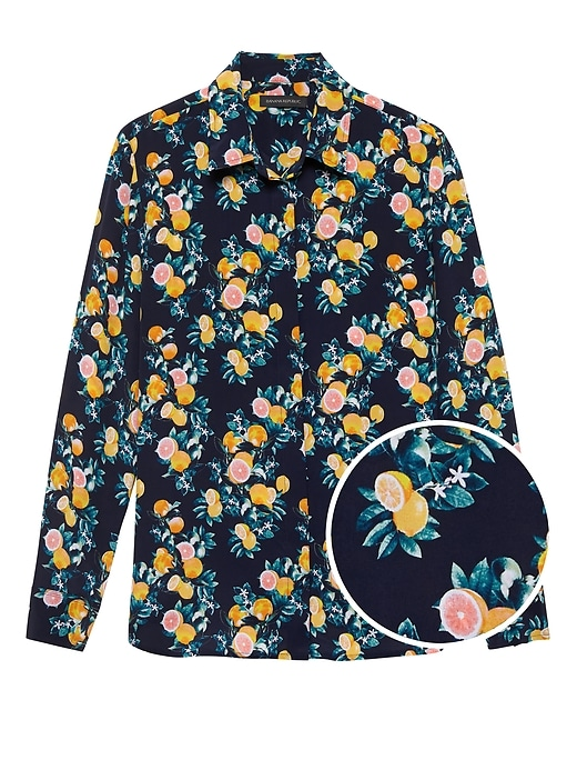 Dillon Classic Fit Washable Silk Shirt by Banana Repbulic