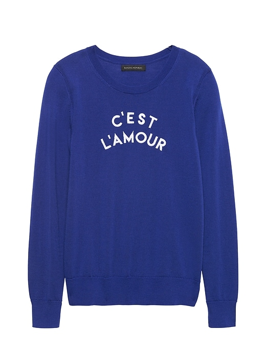 C'est L'amour Sweater by Banana Repbulic