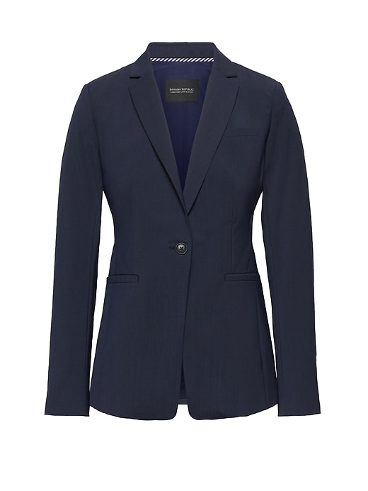 Long And Lean Fit Washable Wool Blend Blazer by Banana Repbulic