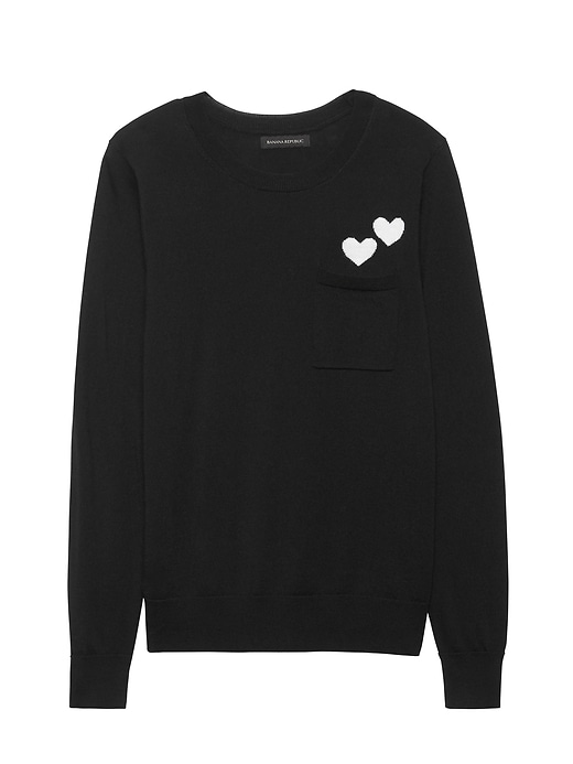 Heart Pocket Sweater by Banana Repbulic