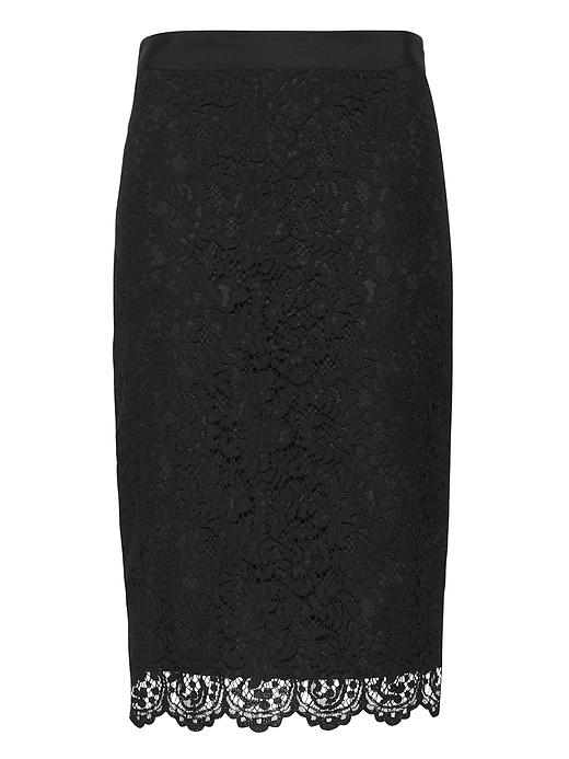 Lace Pencil Skirt by Banana Repbulic