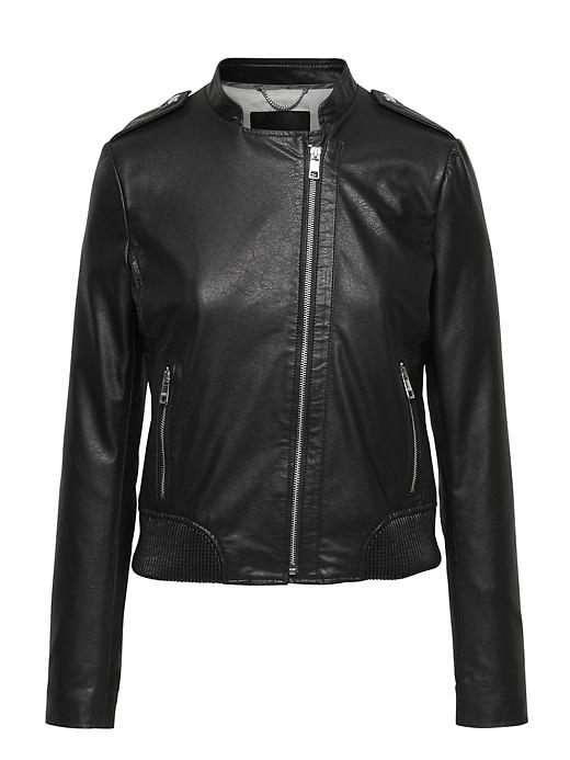 Vegan Leather Jacket by Banana Repbulic