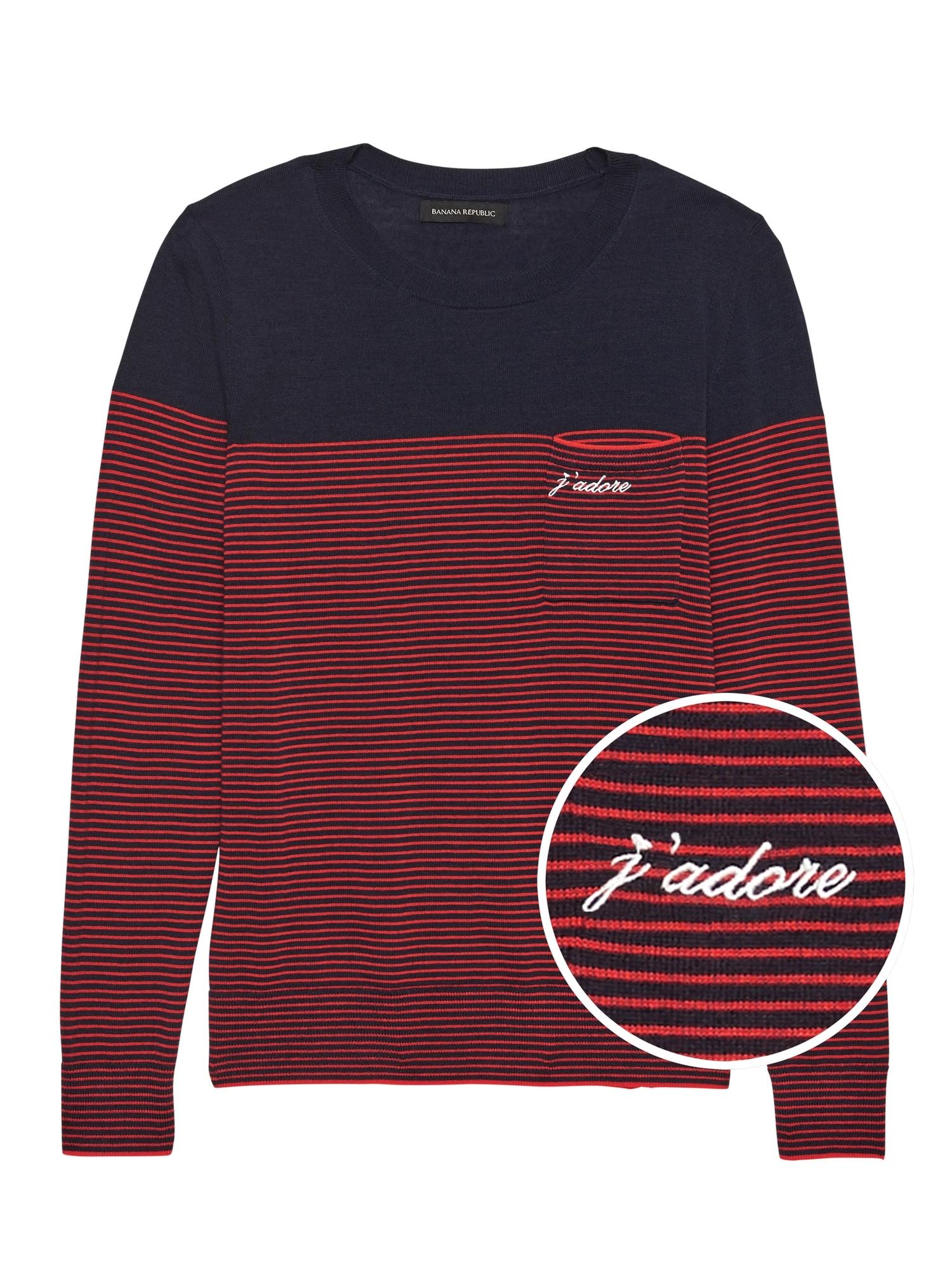 fd8bfce99 J adore Stripe Pocket Sweater