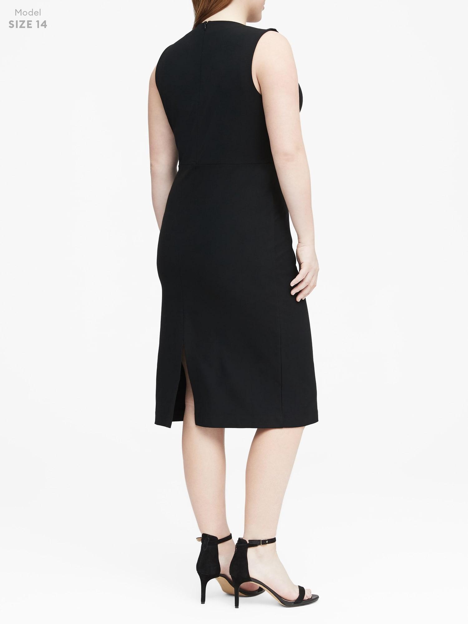 a27e415e96e Ponte V-Neck Sheath Dress