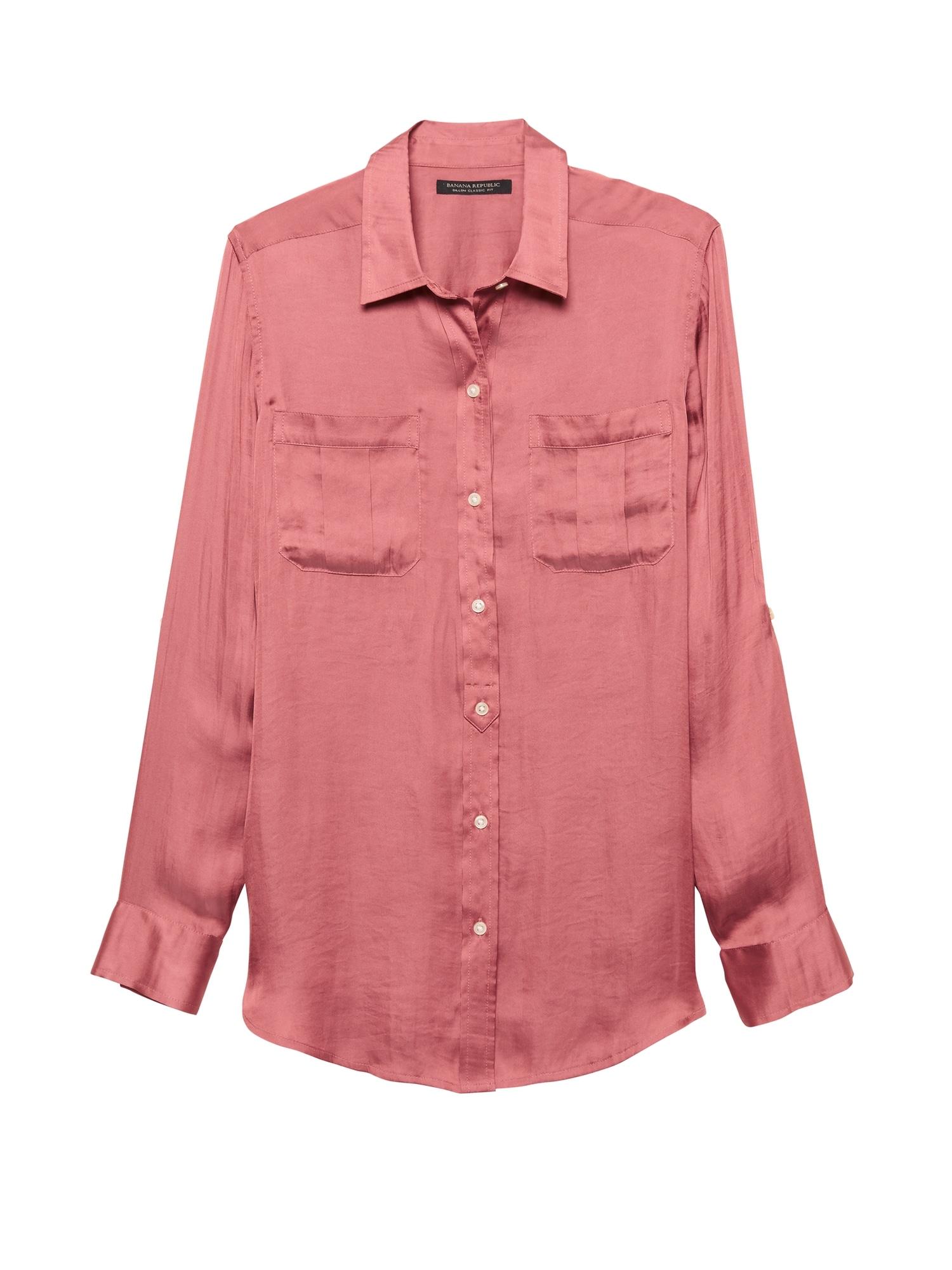 e366a8b35a3749 Dillon Classic-Fit Soft Satin Utility Shirt