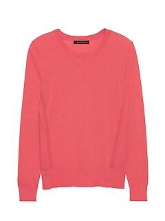 Petite Silk Cotton Crew-Neck Sweater