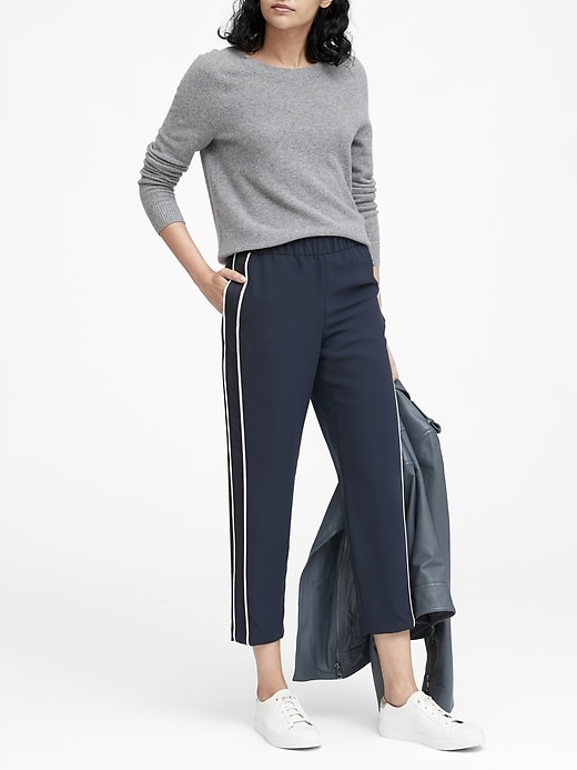 Hayden Tapered Fit Side Stripe Ankle Pant by Banana Repbulic