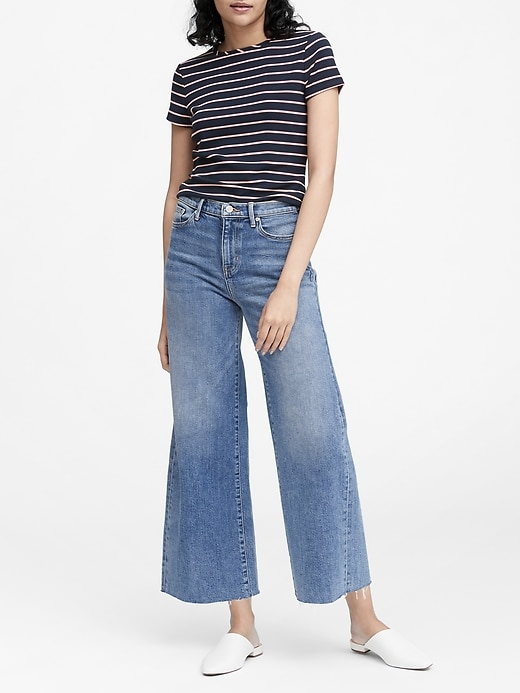 High Rise Wide Leg Cropped Jean by Banana Repbulic