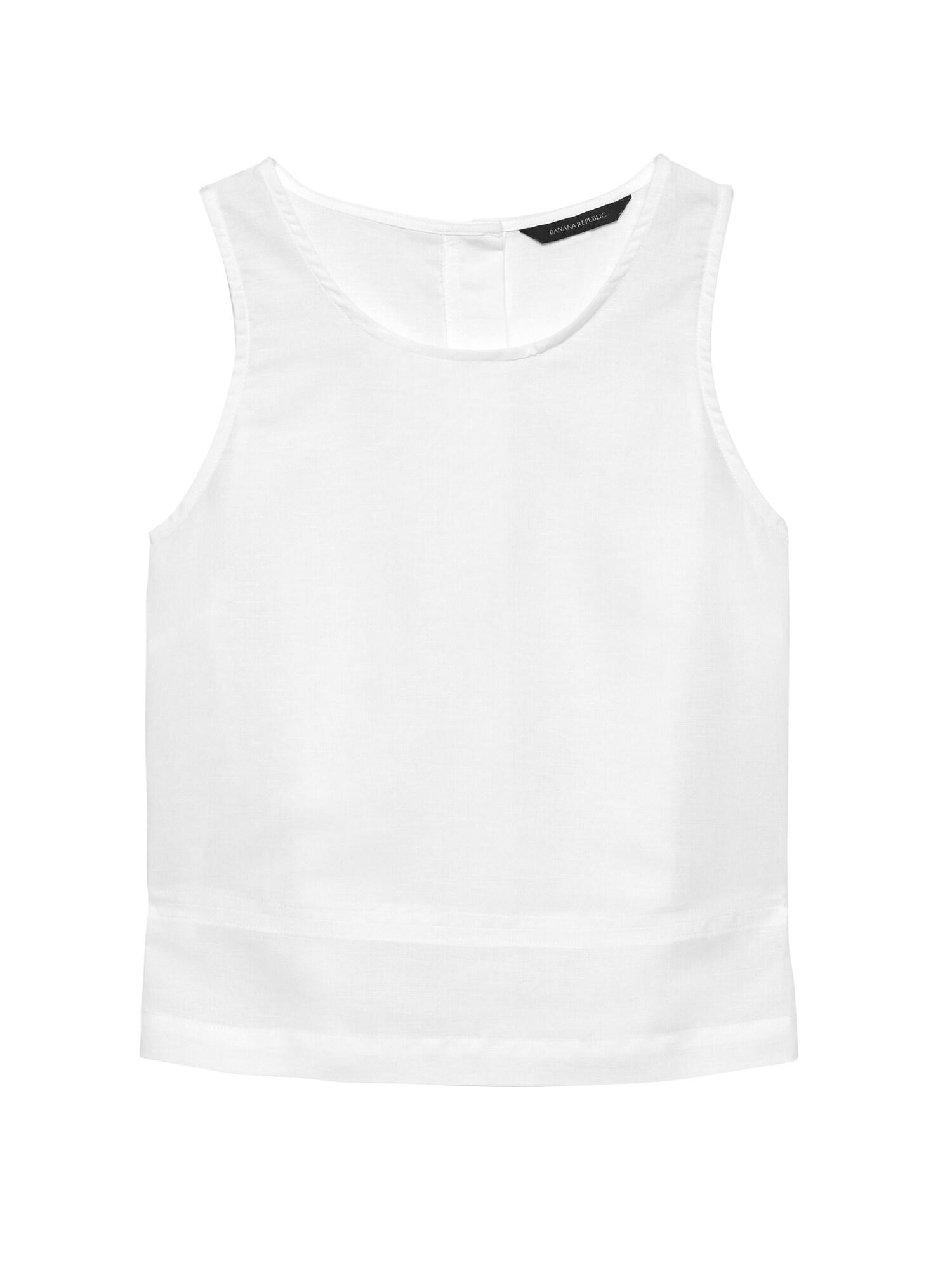 71d0c3e334f272 Linen-Cotton Button-Back Tank
