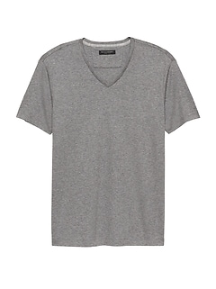 Luxury-Touch V-Neck T-Shirt