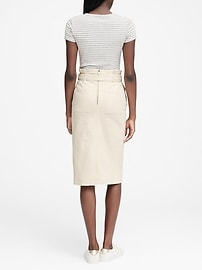 62091eaf8a Paper-Bag Waist Denim Skirt | Banana Republic