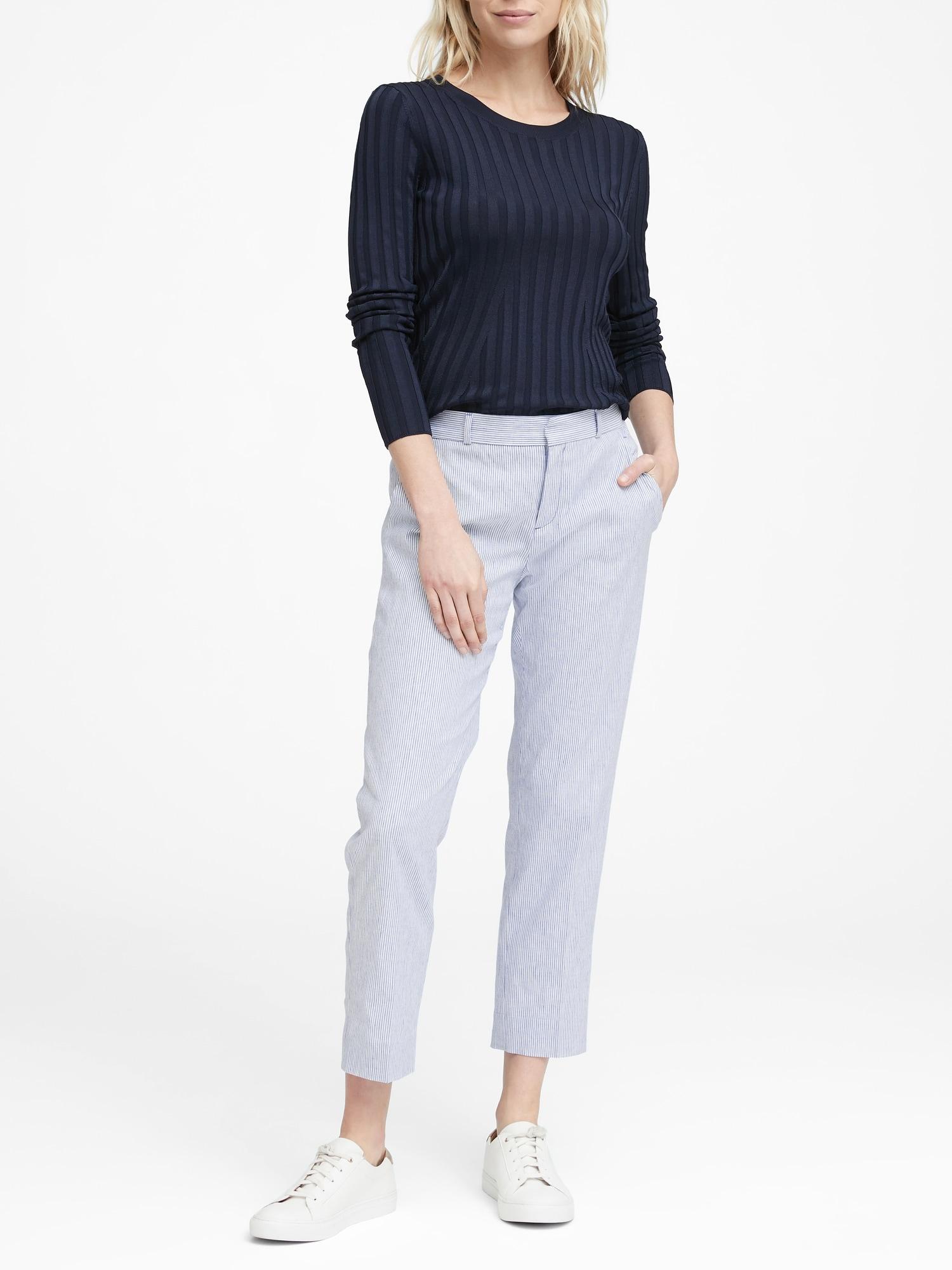 5ec45c39c03 Petite Avery Straight-Fit Linen-Cotton Pant