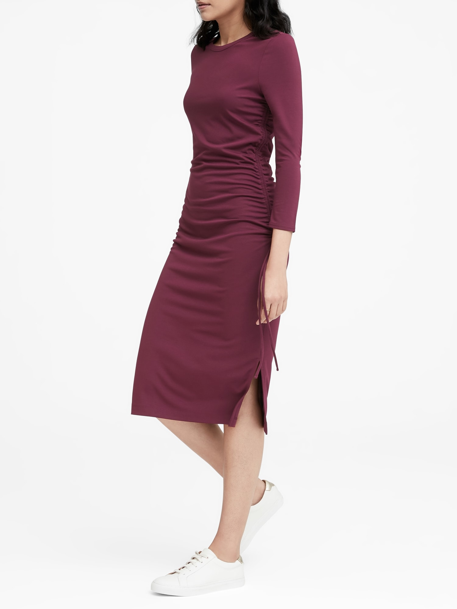 f06c362d100 Soft Ponte Ruched T-Shirt Dress