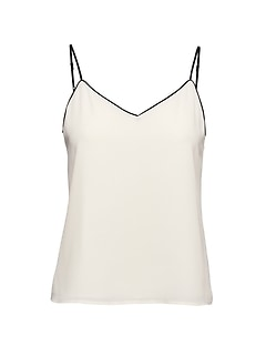 Petite Strappy Camisole with Piping