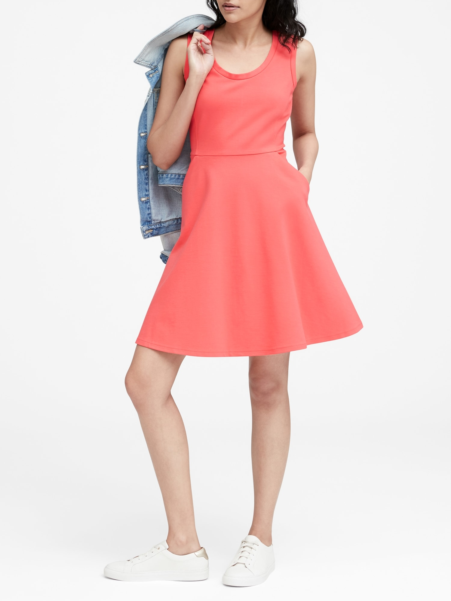 4bed86ca6f1 Ponte Fit-and-Flare Dress