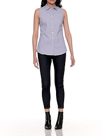 8d06023cafef8 Petite Riley Tailored-Fit Solid Shirt