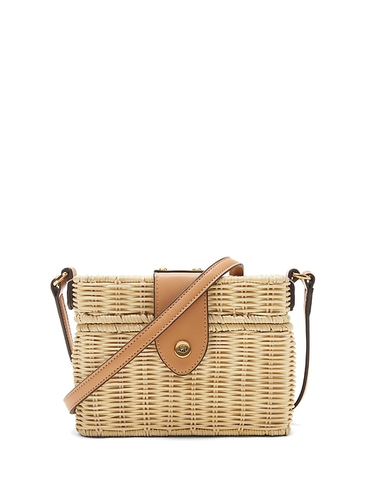 Wicker Basket Bag by Banana Repbulic