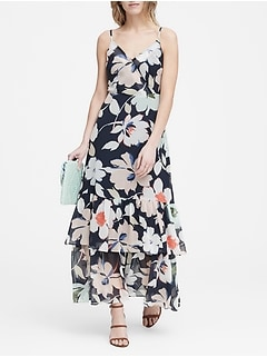 Floral Tiered Maxi Dress