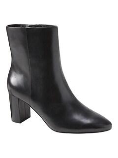 Block-Heel Ankle Boot