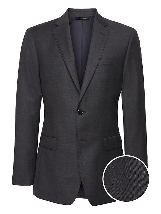 Banana Republic Slim Italian Wool Nailhead Suit Jacket
