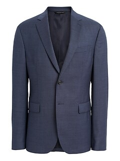 Extra-Slim Italian Wool Suit Jacket