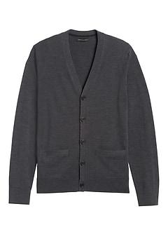 Italian Merino Cardigan Sweater