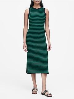 Petite Stripe Knit Dress