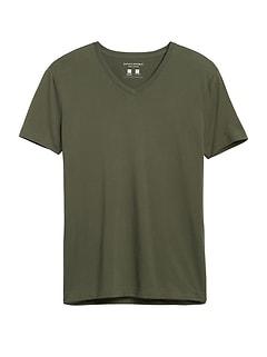 Tech Cotton V-Neck T-Shirt
