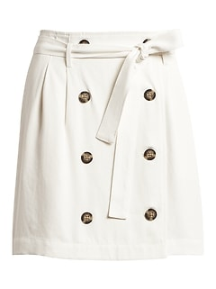Petite Paperbag-Waist Skirt