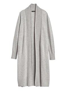 Petite Italian Wool-Blend Duster Cardigan