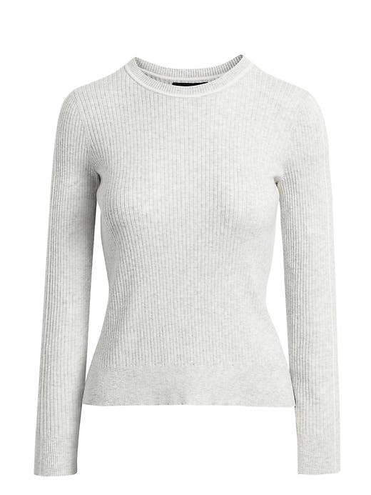 Petite Stretch-Cotton Fitted Sweater