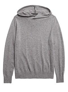 Merino-Yak Blend Sweater Hoodie