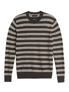 Merino-Yak Blend Stripe Sweater
