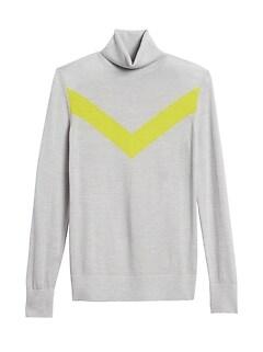Petite Washable Merino Chevron Sweater