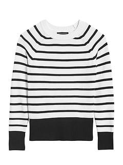 Petite Cotton-Blend Raglan Sweater