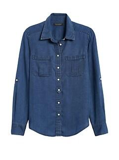 Petite Dillon Classic-Fit TENCEL™ Utility Shirt