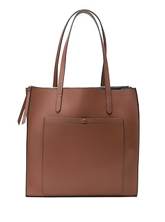 12-Hour Leather Large Tote