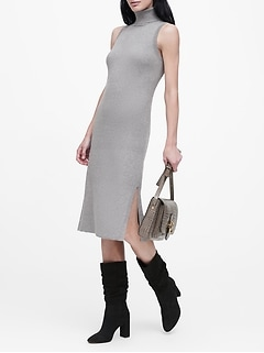 Turtleneck Column Dress