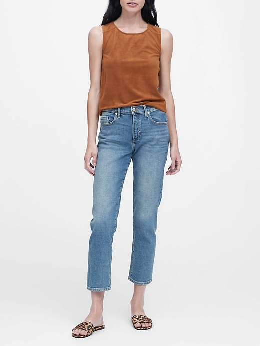 Vegan Suede Cropped Shell