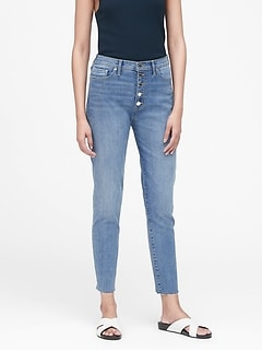 Petite High-Rise Skinny Button-Fly Jean