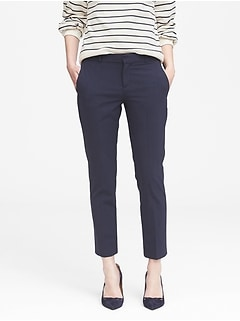 Petite Avery Straight-Fit Washable Wool Blend Pant