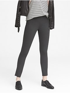 Devon Legging-Fit Washable Heathered Bi-Stretch Ankle Pant