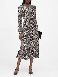 Print Midi Shirt Dress